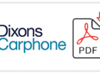Dixons Carphone Job Application Form Printable PDF