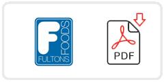 Fulton's Foods Job Application Form Printable PDF