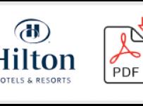 Hilton Job Application Form Printable PDF