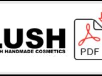 Lush Job Application Form Printable PDF
