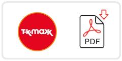 TK Maxx Job Application Form Printable PDF