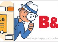 B&Q Job Application Form and Printable PDF 2020