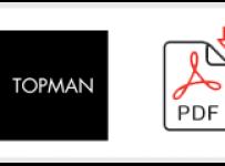 Topman Job Application Form Printable PDF