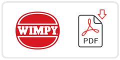 Wimpy Job Application Form Printable PDF