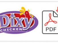 Dixy Chicken Job Application Form Printable PDF