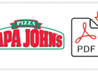 Papa John's Job Application Form Printable PDF