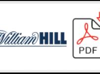 William Hill Job Application Form Printable PDF